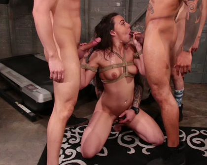 Bound Gang Bangs - Whitney Wright Gets Help Stretching Her Holes
