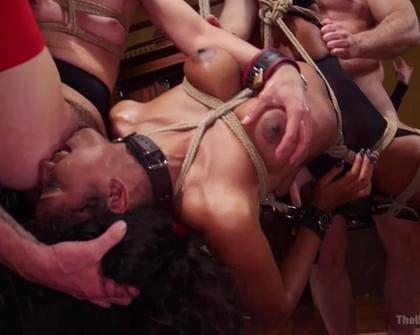 TheUpperFloor - Aiden Starr Amara Romani Sadie Santana Kasey Warner And Ember Stone