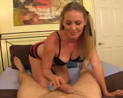 Taboo Handjobs - She busts my nut before a date