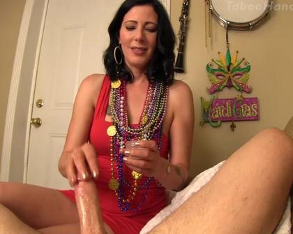 Taboo Handjobs - She earns her mardi-gras beads