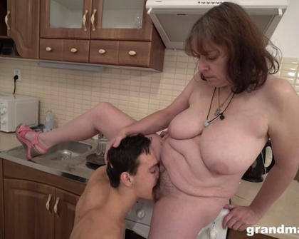 GrandMams - Bossy Granny Enjoys Young Cock