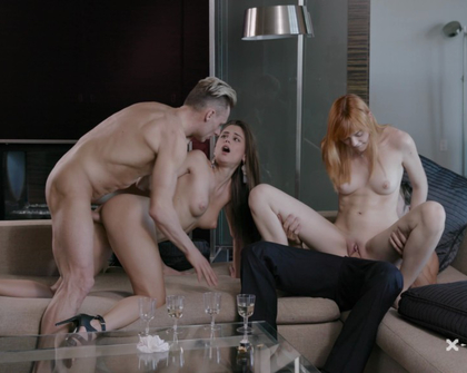 X-Art - 4 way in 4k - Caprice  Anny