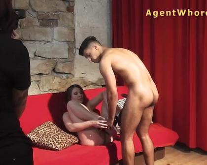 AgentWhore - Silvija Mel Subyes Horny Assistant Fucks Shy Model