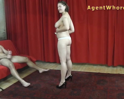 AgentWhore - Silvija Mel Subyes Milf Agent Gets Horny By Musculature Guy