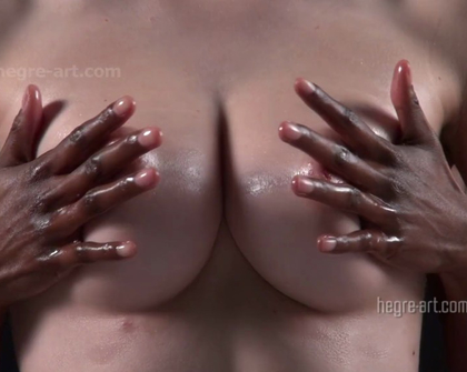 Hegre - Black And White Breast Massage