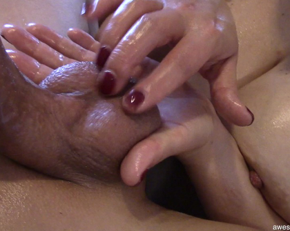 AwesomeHandjobs E117 Big Naturals Titfucked While Tied To A Chair