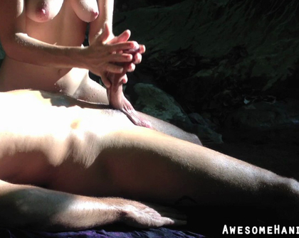 AwesomeHandjobs E21 Quick Outdoor Handjob In The Jungle