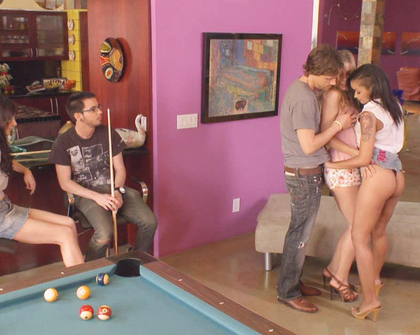 Skin Diamond - Chastity Lynn Diana Prince - Fucking game of fucking billiards (part 1)