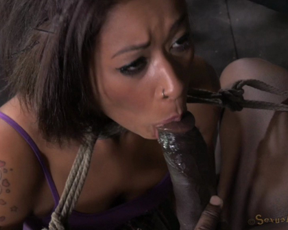 Skin Diamond - Sexy Skin Diamond gets stretched out stuffed full of cock from both ends epic deepthroating on BBC!