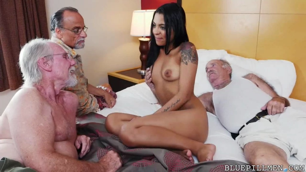 image Old threesome staycation with a latin hottie