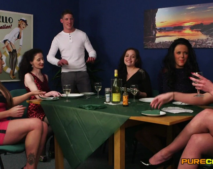 PureCFNM -  Dolly Diore Jess Scotland Lexi Ryder Ruby Ryder And Scarlet Red Come Dine On Me