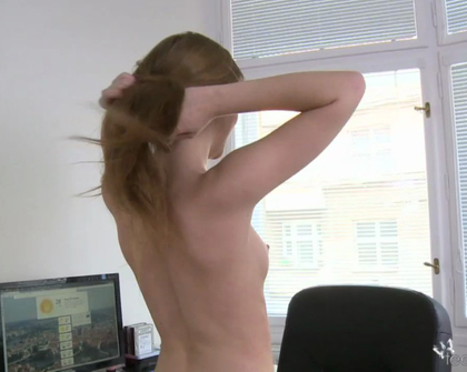 TeenModels - Domi and her computer Domi